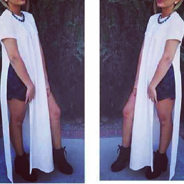 long shirt maxi dress high split slits in sides long split shirt urban outfitters grey beach couture forever 21