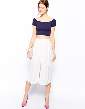 Warehouse   Warehouse Soft Pleat Culotte at ASOS