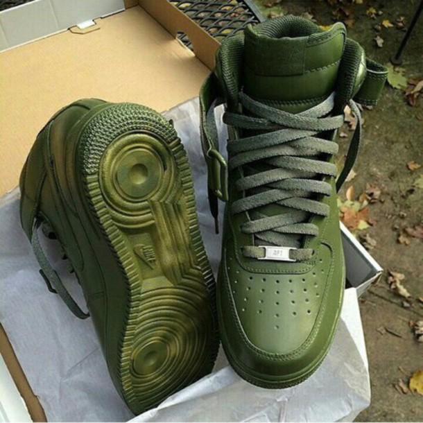 shoes nike air force 1 nike shoes green