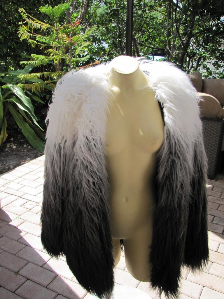 BEBE Jacket Coat Ombre Faux Fur Coat 210282 | eBay