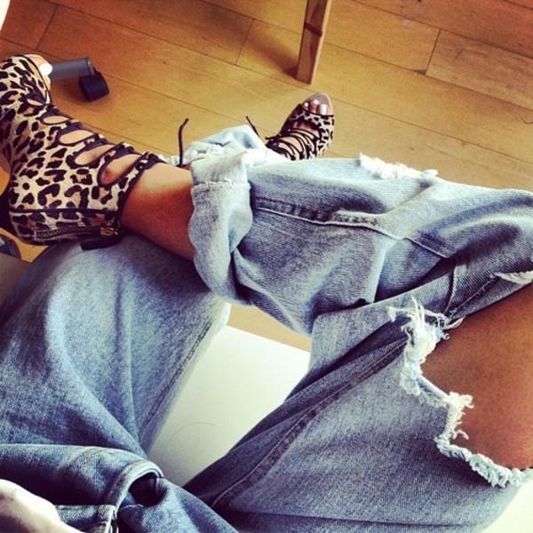 shoes high heels cute high heels lace up leopard print