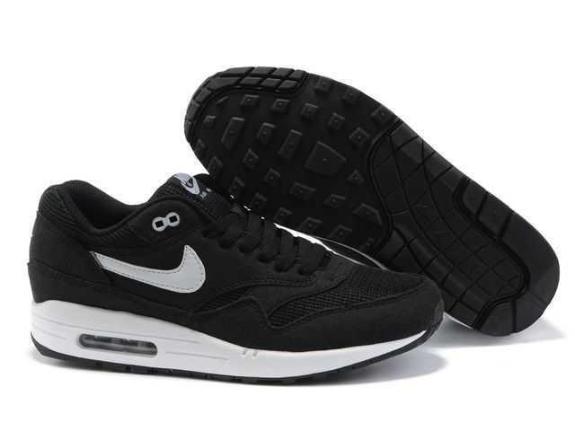 Nike Air Max 1 Chaussure Pour Homme Noir Blanc 30329