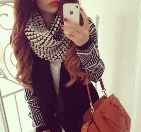 coat scarf i phone bag jacket