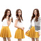 Fashion women ladies pleated flared mini skirt short high waist candy color bf4u | ebay