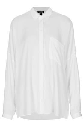 Crinkle Oversized Shirt - Topshop
