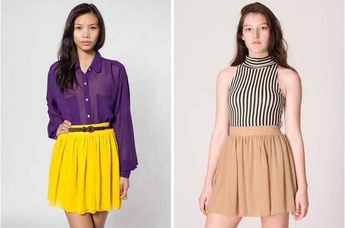 Hot Women Lady Double Layer Chiffon Pleated Retro Elastic Short Mini Dress Skirt | eBay