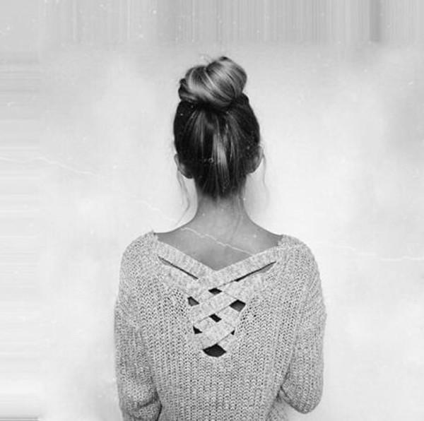 sweater r ckenfrei strickpullover pullover backfree wheretoget. Black Bedroom Furniture Sets. Home Design Ideas