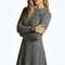 Grace rib knit turtle swing jumper dress