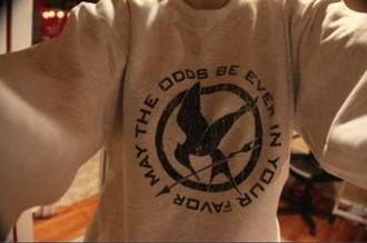 sweater sweatshirt grey sweater the hunger games mockingjay catching fire hipster hippie cool design t-shirt christmas sweater holiday gift color/pattern black