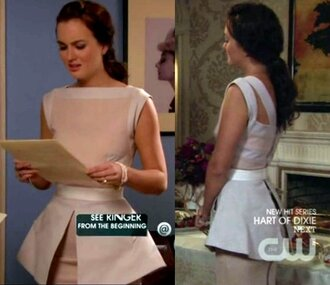 blouse clothes celebrity blair white beautiful top