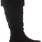 Winter biker pirate style knee low heel slouch calf high knee boots size