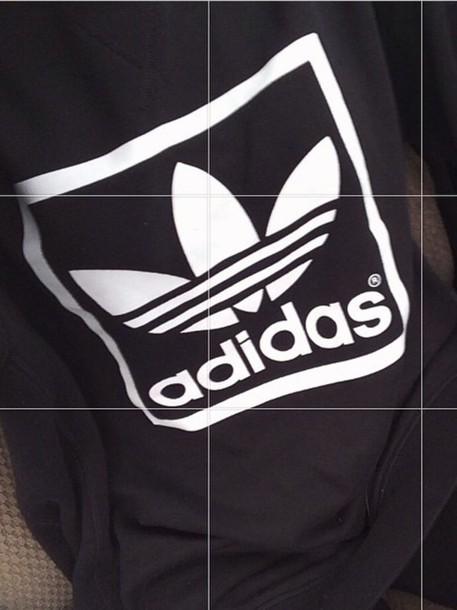 skirt black and white addias shirt