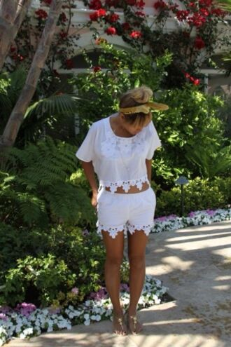 shoes hat shirt shorts pants and shirt t-shirt blouse lace set white cute outfit summer chiffon pattern top bottom tank top crop tops summer dress beyonce