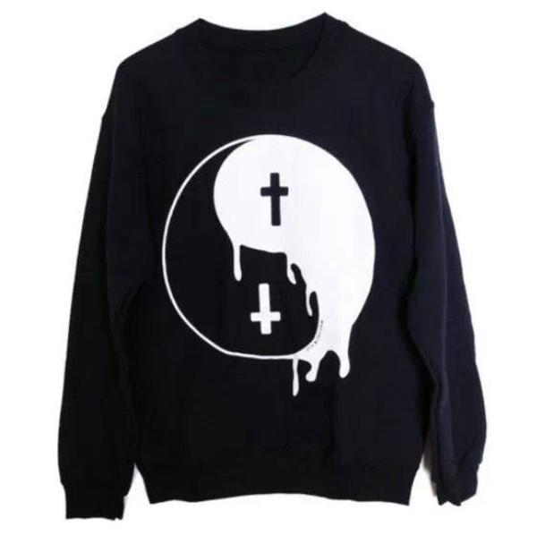 sweater tao. yin yang yin yang black white oversized sweater