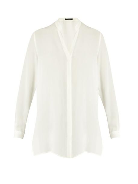blouse fashion clothes etro button-up silk-chiffon