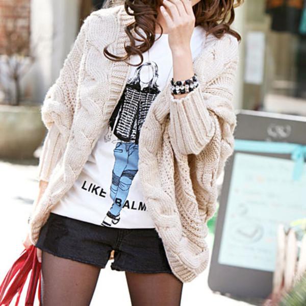 sweater cardigan leisure pure color elegant