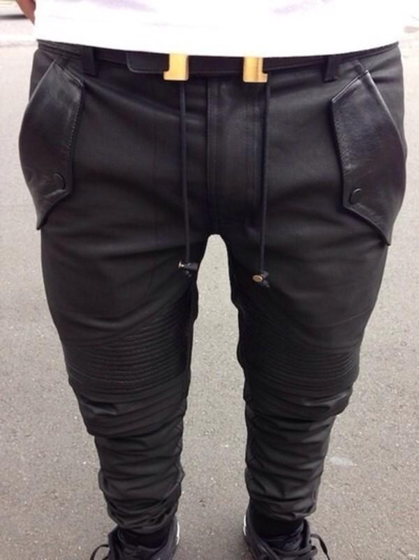 jeans pants mens harem pants mens pants leather pants harem pants pants for men. leather black belt dope cute swag
