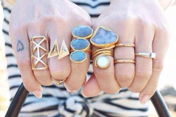 jewels blue light gold ring big rings gold ring