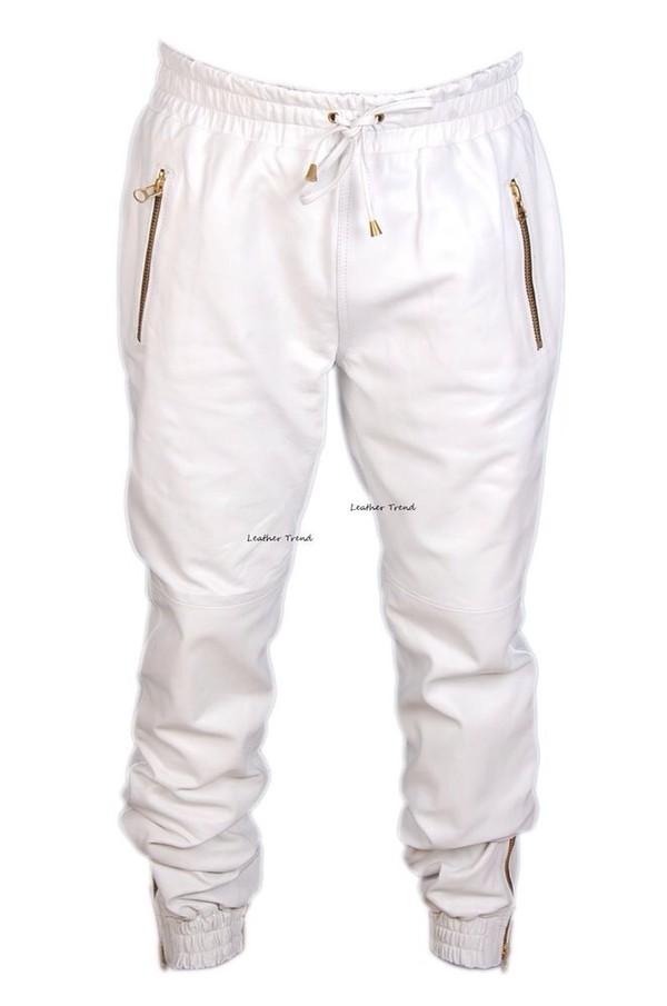 jeans black sweatpants leather leather joggers