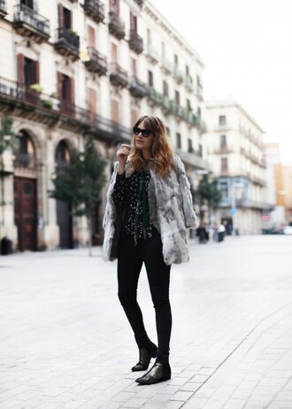 blogger blouse my daily style grey coat rock