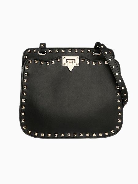 Rivet Two Ways Bag In Black | Choies