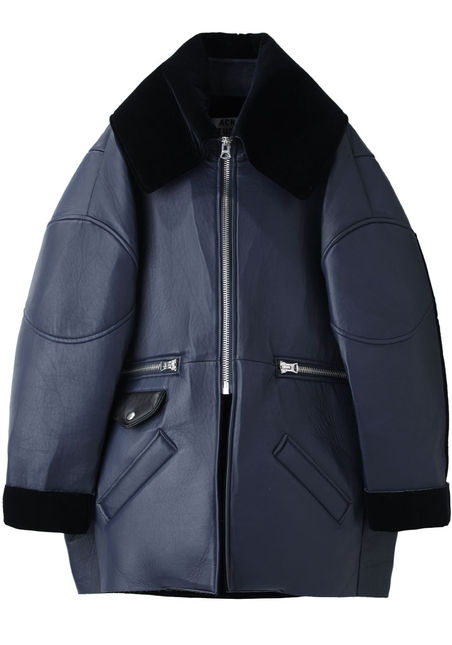 Acne Studios  Major Oversized Leather Jacket  |   La Garçonne
