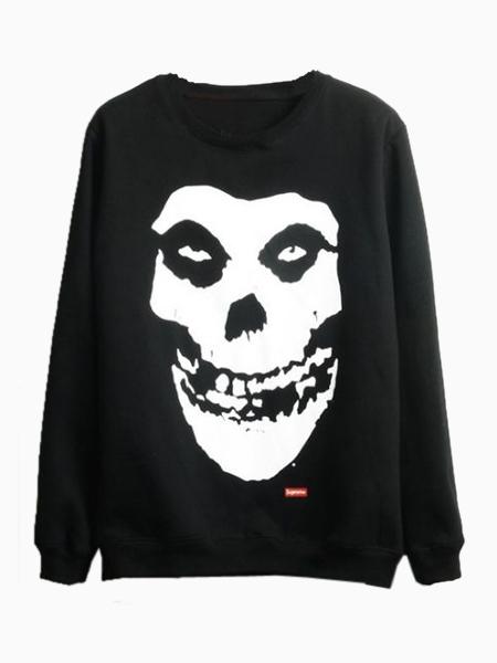 Skull Sweatshirt in Black   Choies
