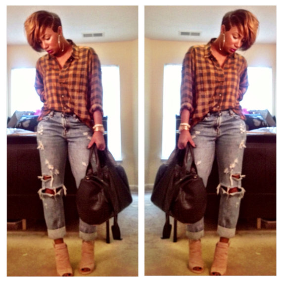 Boyfriend ripped distressed The Basics jeans by ShopBNicole