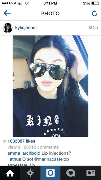 sunglasses kylie jenner top