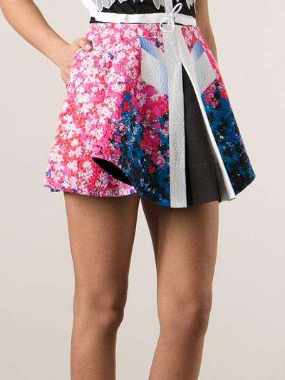Peter Pilotto Graphic Print Mini Skirt - Smets - Farfetch.com