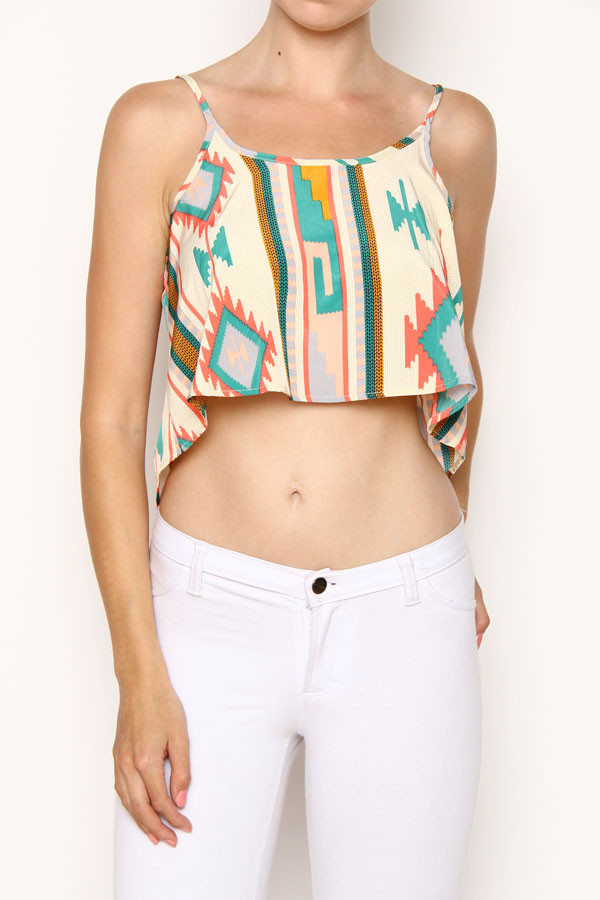 Tribal high low crop top – Elephant Juice Boutique