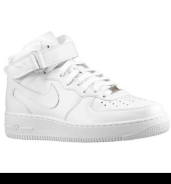 shoes all white everything high top