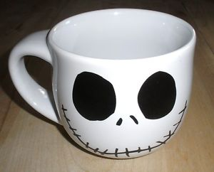Nightmare Before Christmas Smiling Jack Face Porcelain Mug by Disney 2002 Mint | eBay