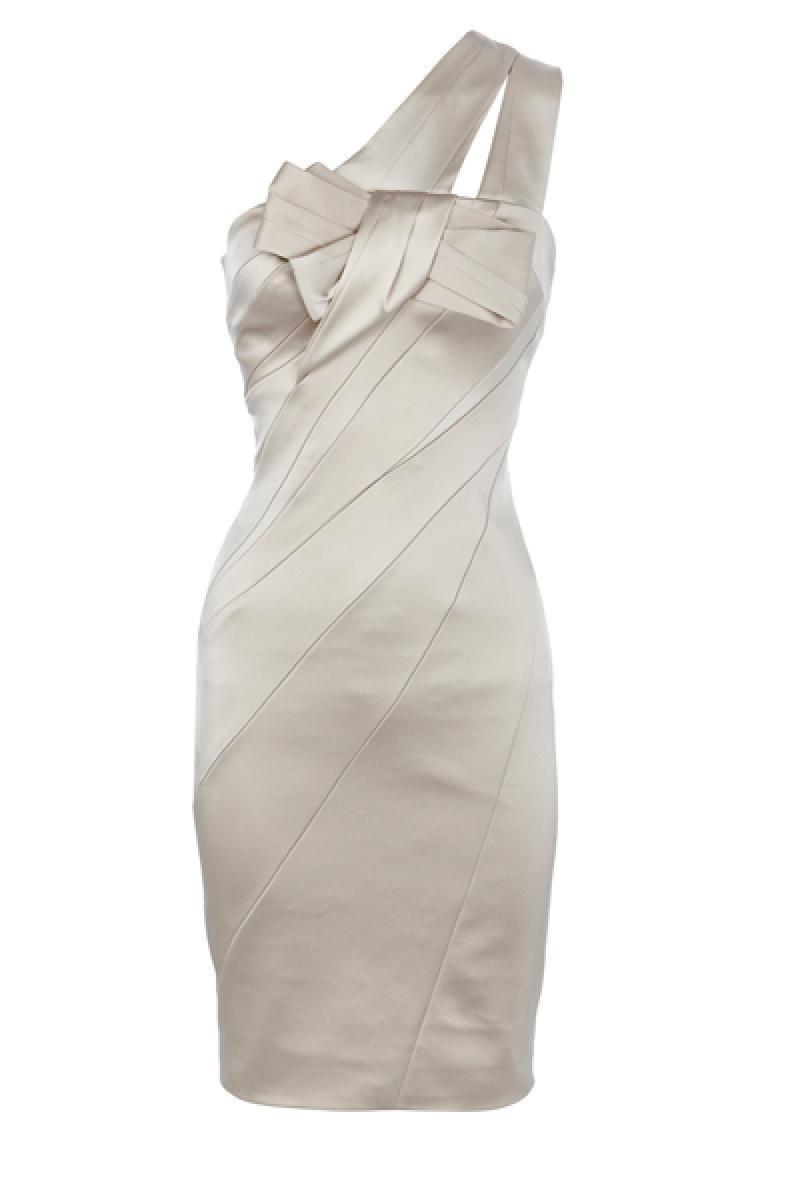 Single Shoulder Bowknot Slim Short Dress,Cheap in Wendybox.com
