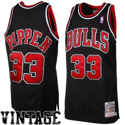 Mitchell & Ness Scottie Pippen Chicago Bulls 1997-1998 Throwback Authentic Jersey - Black - NBA Store