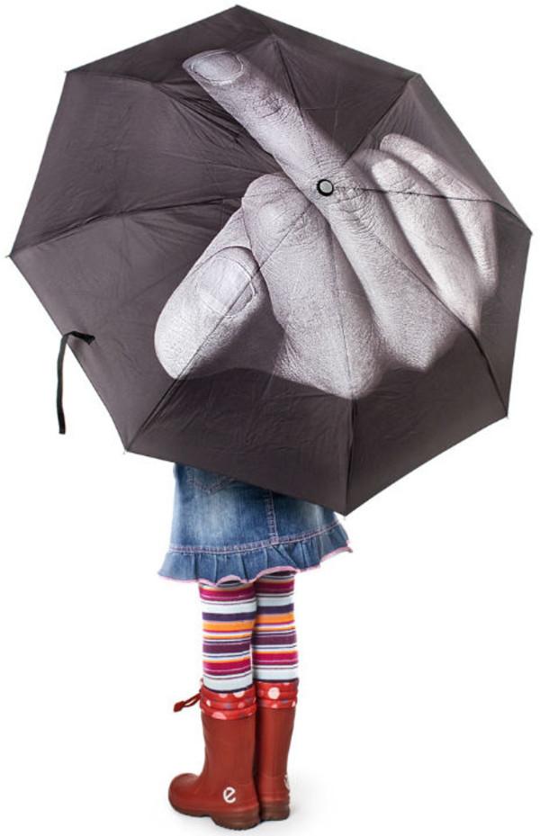 coat middle finger the bird sick umbrella black and white radical gnarly dope umbrella umbrella