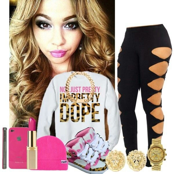 sweater leopard print pink white gold pants