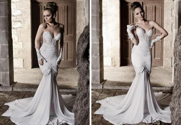 Dress: Wedding Dress, Clothes, Corset Wedding Dress