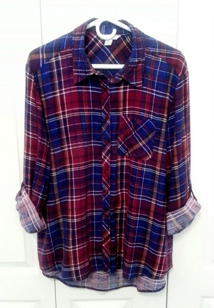 blouse clothes casual shirt plaid shirt plaid shirt oversized shirt rolled sleeves