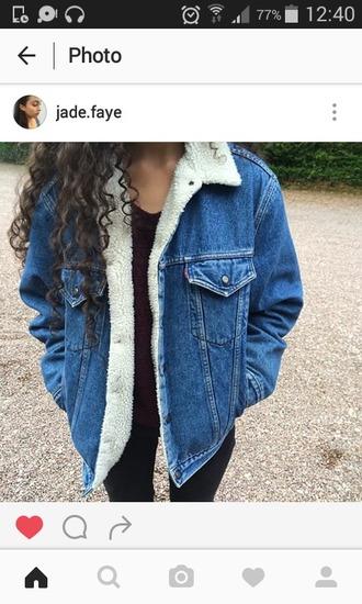 coat jacket veste denim jeans laine veste en laine veste denim denim coat denim jacket winter outfits