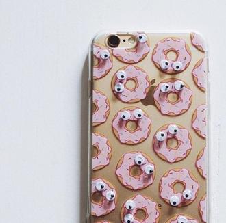 phone cover phone pastel phone case iphone cover iphone case iphone pink pastel pastel pink iphone 6 case accessories accessory donut cute