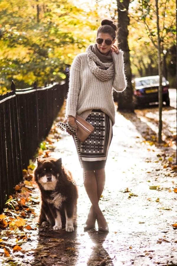 thank fifi sweater skirt shoes bag jewels coat