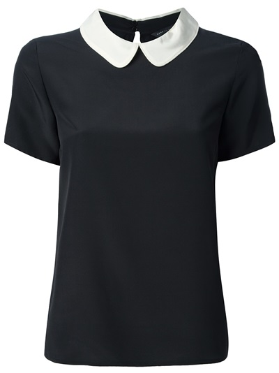 Marc By Marc Jacobs Contrast Collar Blouse - Di Pierro - Farfetch.com