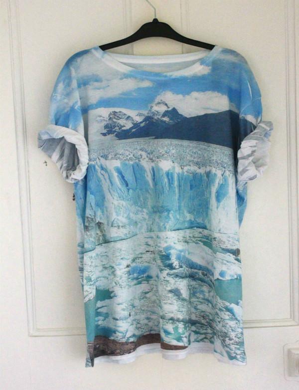 t-shirt mountain glacier cool shirts