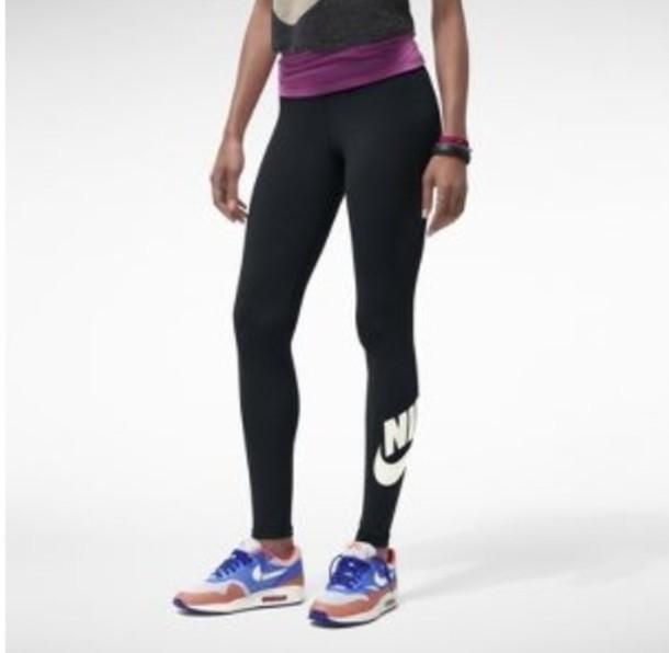 Nike Leggings Workout Black White S Sportswear Pro
