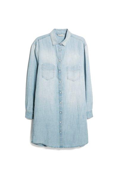 linen tencel-blend dress