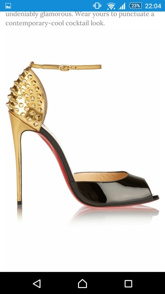 shoes christian louboutin sneakers louboutin christian louboutin heels christian louboutin spiked christian louboutin shoes hot shoes lovely shoes kylie jenner black heels black shoes red shoes gold heels black and gold heels high heel sandals sexy shoes spiked heels spiked shoes gold shoes black and gold shoes