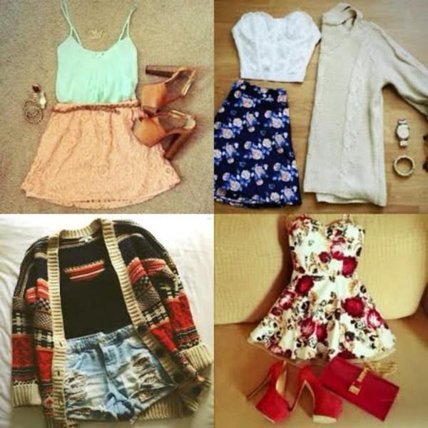 tank top skirt shoes blouse dress