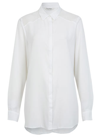 Oversized Solid Shirt - Tops  - Clothing  - Miss Selfridge