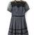 2014 Round Neck Short Sleeve Patchwork Plaid Dress : KissChic.com